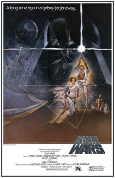 Star Wars-Poster mit Spiralschnitt