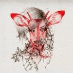 Lovely illustration work of Hong Kong based artist Peony Yip, aka The White Deer. I'm loving all her pencil work, but especially these animal morphing illustrations overlayed on females faces, aiming to explore the relationship between human, animal and nature.