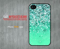 Silver Sparkle iPhone 4 case Sparkle iPhone4 case Sparkle Gradient iPhone 4 case iphone 4 4g 4s Hard/Rubber case-Choose Your Favourite Color by MyCasesKing, $7.99