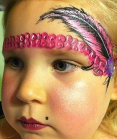 Gotta try this one soon! Too adorbs  Roaring twenties face painting face painting ideas for kids