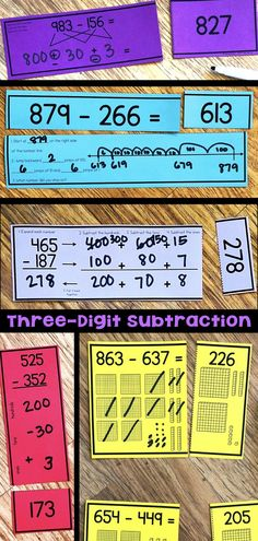 22 best Ideas card games for three math centers Subtraction Strategies, Math Subtraction, Subtraction Activities, Numeracy, Multiplication, Math Addition, Addition And Subtraction, Math Stations, Math Centers