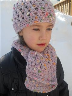 Purple Confetti Hat and Scarf Set - Media - Crochet Me