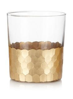 """Cut glass tumbler with gold leaf detailing Tumbler Dimensions: 3.5"""" x 5"""" Capacity: 400 ml // 13.5 fl oz Hand wash recommended"""