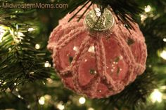 free crocheted ornament cover patterns   Crochet Ornament