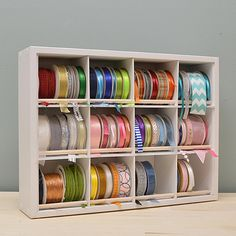 20 Best DIY Furniture Storage Ideas for Crafts Ribbon Organization, Ribbon Storage, Craft Organization, Craft Room Storage, Diy Storage, Craft Rooms, Storage Ideas, Rustic Closet, Ribbon Holders