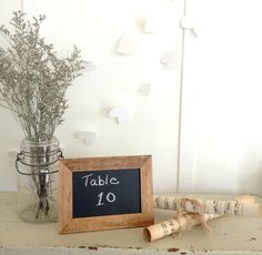 Set of 10 Stained Wood Chalkboard Frames for by AllLavenderandLove, $35.00