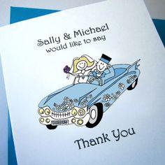 Cadillac Wedding Thank You Cards