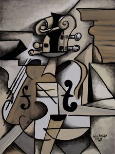 Picasso - strings and scrolls... what's not to love? (For Sweet Erica, DM)