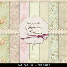 Freebies Flowers Papers Kit - Summer Dreams:Far Far Hill - Free database of digital illustrations and papers