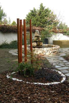 Isleta de  piedras y bambú - Segovia