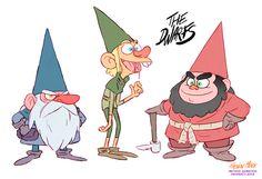 DWAAAAAARFS! Characters research for Method Animation.