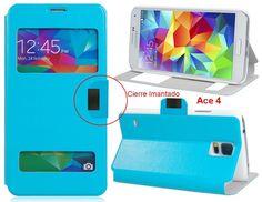 FUNDA Telefono Para SAMSUNG GALAXY ACE 4 VENTANA Tapa Movil Flip Cover - http://complementoideal.com/producto/fundas/fundas-telefono-con-tapa/funda-tipo-libro-con-doble-ventana-para-samsung-galaxy-ace-4/  - Con la Funda Tipo Libro Con Doble Ventana Para Samsung Galaxy Ace 4 tendrás una protección total del tu teléfono móvil, ya que protege tanto delante como la parte de atrás de esta forma tendrás protección 100% del dispositivo. Diseñada exclusivamente para Samsung G