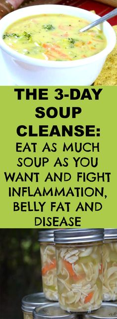 The Soup Cleanse: Eat as Much as You Want and Fight Inflammation, Belly Fat, and Disease - Education Healthy Weight Loss Eating Plan, Weight Loss Cleanse, Weight Loss Drinks, Soup Cleanse, Detox Soup, Soup Recipes, Healthy Recipes, Clean Eating, Healthy Eating