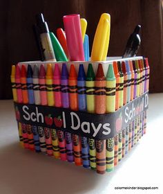 Colorful Pen Holder from Color Me Kinder: Monday Made It!