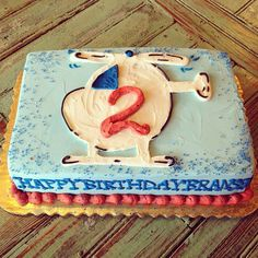 Helicopter Birthday Cake by 2tarts Bakery / New Braunfels, TX / www.2tarts.com