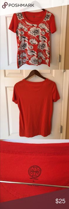Tory Burch floral tshirt Tory Burch floral tshirt. Size small. Never worn. 100% cotton. Tory Burch Tops Tees - Short Sleeve