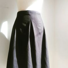 Plain linen pleated skirt Follow us on Fb and instagram  nouf clothing