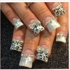 Duck feet nails | fan nails | flare tip nails | decorado  de unas | nail art designs with animal print