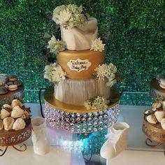 Marbelized baby shower cake #carinaedolce www.carinaedolce www.facebook.com/carinaedolce Baby Shower Cakes, Facebook