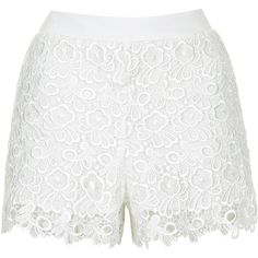 Discover the latest in women's fashion and new season trends at Topshop. Shop must-have dresses, coats, shoes and more. Lace Shorts, White Shorts, Scalloped Hem, Topshop, Elastic Waist, Asos, Glamour, Polyvore, Shopping