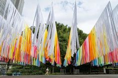 Layers of Rainbow Fabric Invite Visitors to Get Lost in a Sea of Color - My Modern Met