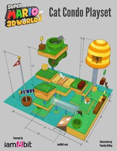 A Blueprint For A 70 Square Foot Cat Paradise and like OMG! get some yourself some pawtastic adorable cat apparel! Super Mario Cat, Super Cat, Diy Cat Enclosure, Cat Playhouse, Mean Cat, Cat Activity, Cat Playground, Cat Garden, Cat Condo
