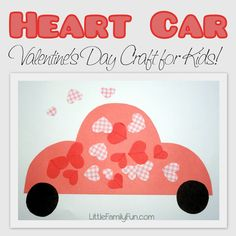 Cute Valentine's Day craft! You could give it to someone as a Valentine's Day card, or frame it and make a new Valentine's Day decoration!
