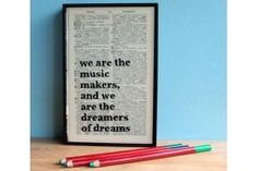 Word Art - We are the music makers quote by Arthur O'Shaughnessy
