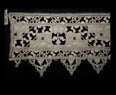 Lace band, linen cutwork, 16th century, Italian. Metropolitan Museum of Art accession no. 79.1.90
