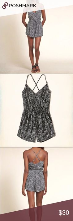 Hollister Romper New With Tags Size medium, fits small. I bought this on here & it was too small for me. Never been worn, still has tags Hollister Dresses