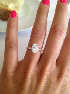 Oval rings are my new obsession and will be the cut of my engagement ring.... One of these days
