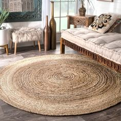 The Gray Barn Dry Creek Eco Natural Fiber Braided Reversible Jute Area Rug - Best Rugs - Ideas of Best Rugs - The Gray Barn Dry Creek Eco Natural Fiber Braided Reversible Jute Area Rug Meditation Mat, Round Area Rugs, Jute Rug, Seagrass Rug, Woven Rug, Natural Rug, Natural Brown, Natural Beauty, Rug Shapes