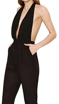 Tootless Womens Clubwear Elegant Sexy Office Jumpsuit Playsuit Black M      Continue to the product at the image link. c302be4ff5