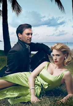 binged on all 7 season of Mad Men on Netflix during these hot summer nights of 2015 Don & Betty Draper (Vanity Fair)