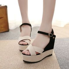 Cheap Sandals, Wedge Sandals, Heeled Sandals, Gladiator Shoes, Beige Shoes, Fashion Sandals, Dream Shoes, Girls Shoes, Heels