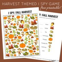 Free fall harvest themed I Spy game for kids from And Next Comes L