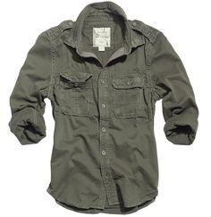 Surplus Hemd Raw Vintage 1/1 braun langarm Freizeitbekleidung Surplus Shirts