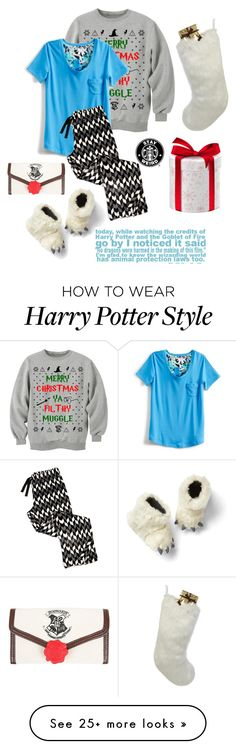 """x-mas morning"" by sea-sky-stars on Polyvore featuring Vera Bradley, Gap, Helen Moore, Warner Bros. and kayleecontest13"