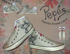 Pepés Zapatillas pintadas a mano Modelo LA RENGA (2)