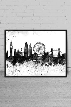 London skyline London print London abstract by MyVisualArt on Etsy
