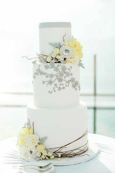 42 Spectacular Buttercream Wedding Cakes ❤ buttercream wedding cakes white flower cake tasty cake #weddingforward #wedding #bride