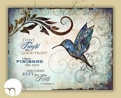 Hummingbird Scripture Art 24x36 Canvas Gallery Wrap by MakaioDesign on Etsy https://www.etsy.com/listing/173908745/hummingbird-scripture-art-24x36-canvas