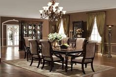 Le Palais, Le Palais Rectangular Leg Table Dining Room Set, Dining Room  Table Sets, Bedroom Furniture, Curio Cabinets And Solid Wood Furniture    Model ...