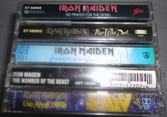 5 IRON MAIDEN cassette tape LoT vintage music by VintageTrafficUSA, $53.50