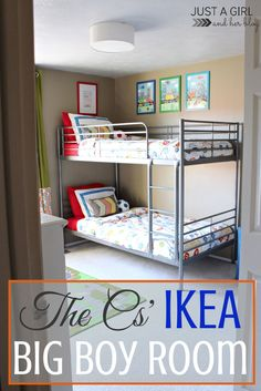Awesome shared big boy room! So many great ideas! | Just a Girl and Her Blog