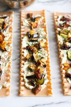 Roasted Vegetable Lasagna Rolls from @cookincanuck
