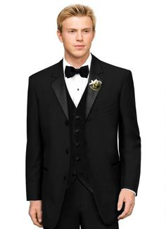2016 Suit Tailored made black notch lapel three buttons single breasted bridegroom man Tuxedo Groomsmen Wedding Suit formal prom