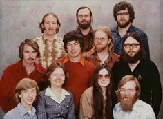 The tiny staff at Microsoft,1978.