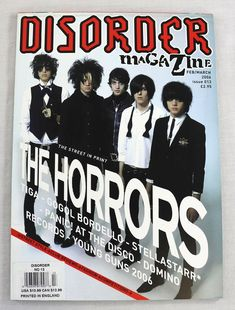 Contents:The Holloways. Cover Model:The Horrors. The Horrors. Date:FEB & March Young Guns, Music Magazines, Cover Model, Print Magazine, Disorders, Horror, England, English, British