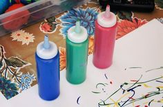 fiveinthehive.com – squeeze bottle painting